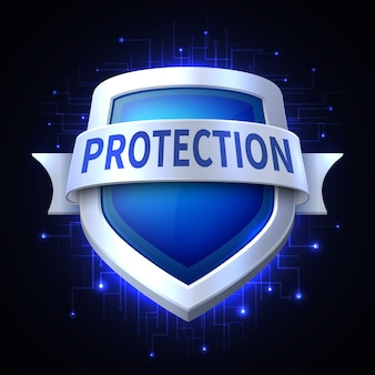 Protection shield  icon for various safety