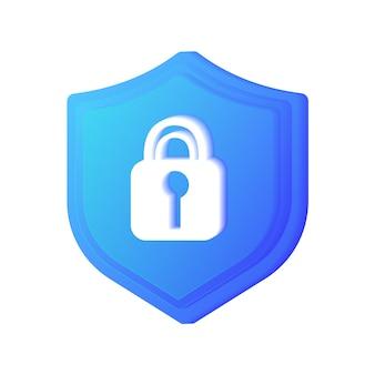 シールドの保護サインサイバー保護アンチウイルスインターネットデータベースバックアップサーバーl