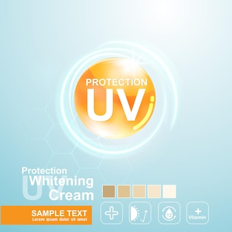 Protection uv and whitening background template