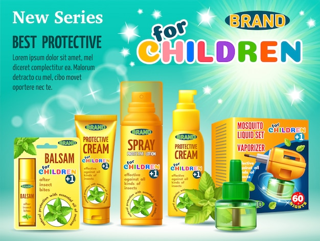 Protective facilities from insects for children.