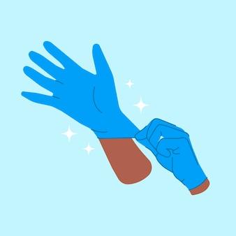 Concetto di guanti protettivi
