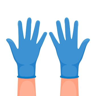 Protective gloves illustration