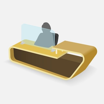 Schermo protettivo in plexiglass per contatori