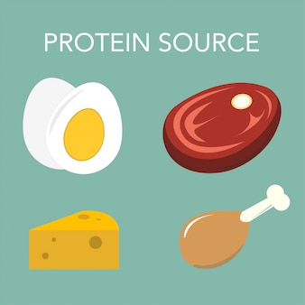 Protein source egg meat chicken cheese