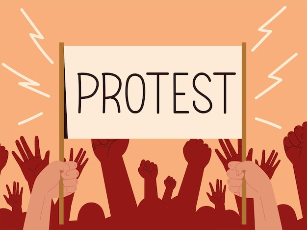 Protest activism card