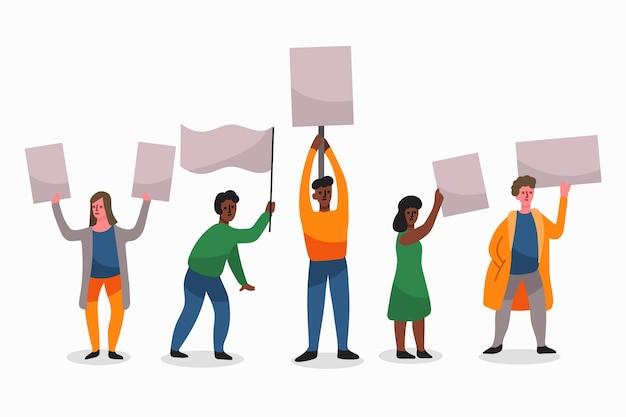 Protest against racism concept
