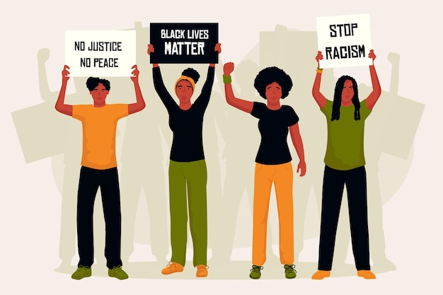 人種差別に対する抗議