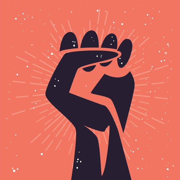 Protest fist hand