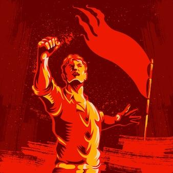 Protest fist revolution poster design