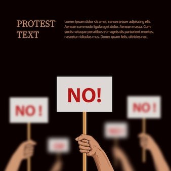Protest template with place for text. vector
