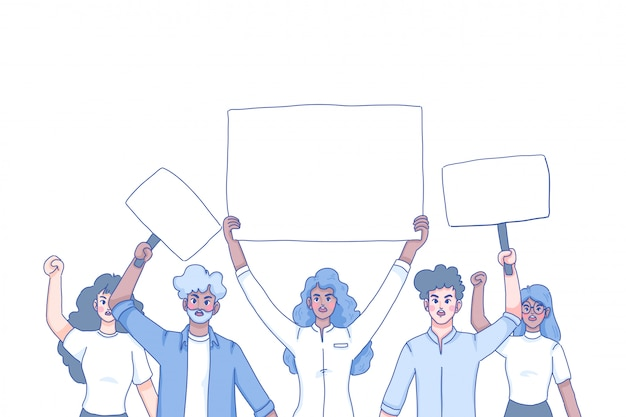 Protesters character