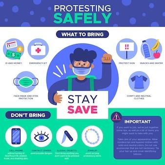 Protesta in sicurezza - infografica