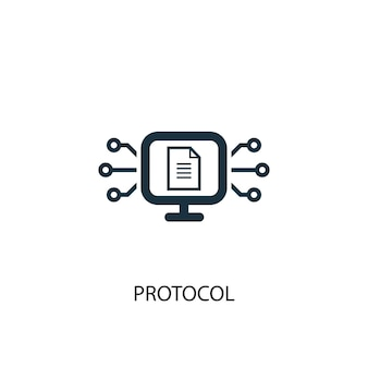 Protocol icon. simple element illustration. protocol concept symbol design. can be used for web and mobile.
