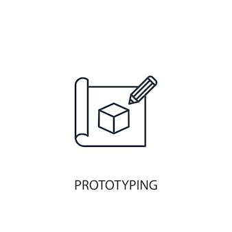 Prototyping concept line icon. simple element illustration. prototyping concept outline symbol design. can be used for web and mobile ui/ux