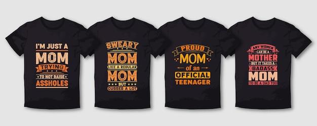 誇り高きマザーママタイポグラフィtシャツデザイン
