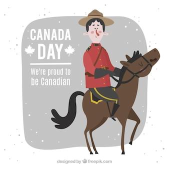 Гордый быть канадским фоном
