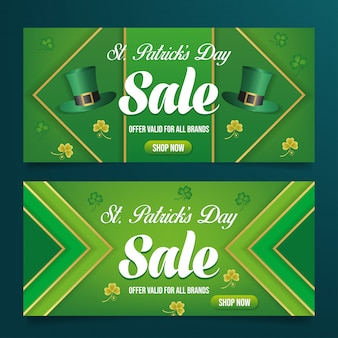 Pst patrick's day sale banner vector