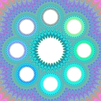 Psychedelic background with circles