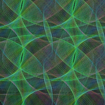 Psychedelic background with green shapes