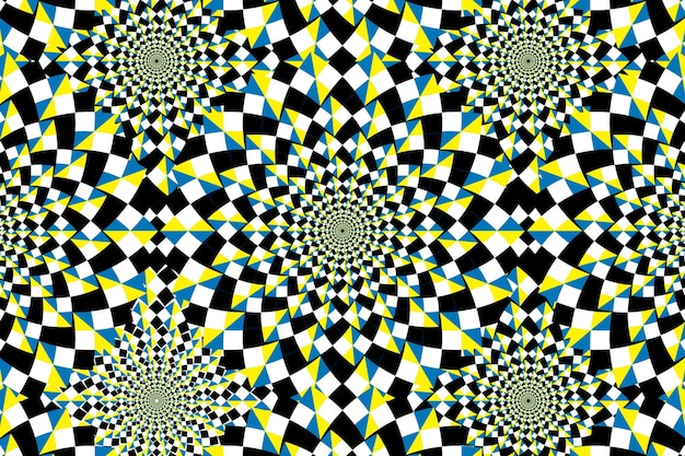 Psychedelic background with optical illusion