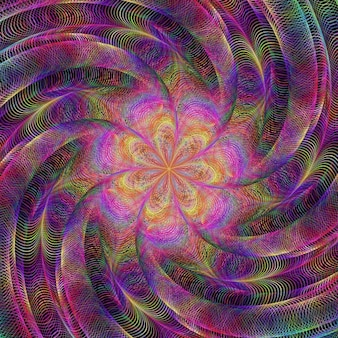 Psychedelic background with a spiral
