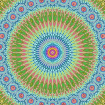 Psychedelic circular background