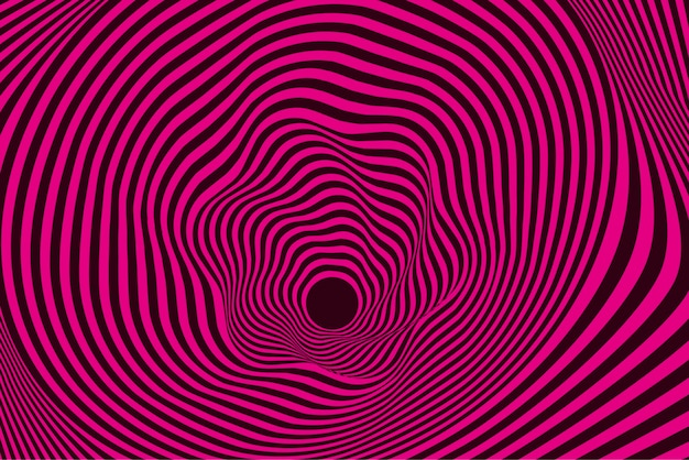 Psychedelic distorted pink and black background