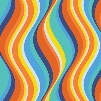 Psychedelic groovy background concept