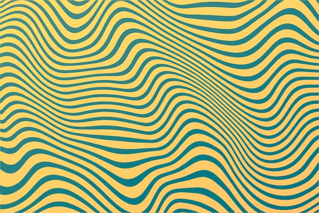 Psychedelic groovy background wavy lines