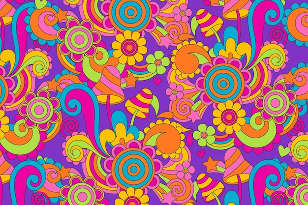 Psychedelic groovy background