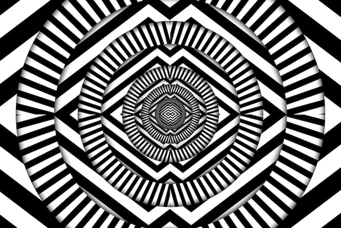 Psychedelic illusion background