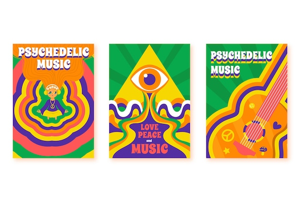 Psychedelic music covers collection