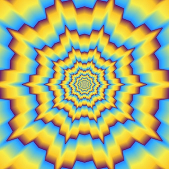 Psychedelic optical background