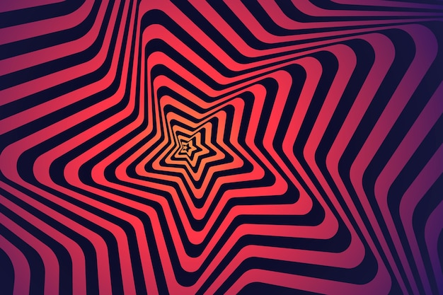 Psychedelic optical illusion background