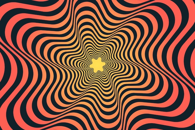 Psychedelic optical illusion wallpaper design