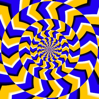 Psychedelic optical spin illusion background