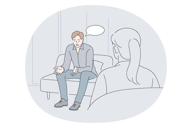 정신과 의사, 심리적 지원, 메디 케어 개념.