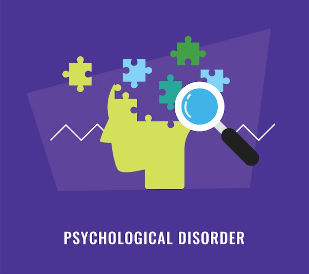 Psychological disorder concept illustration