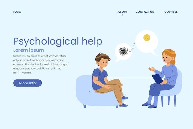 Psychological help landing page design