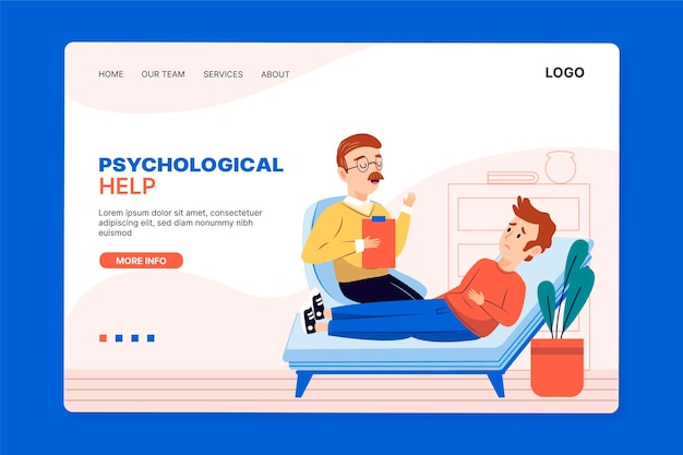 Psychological help landing page style