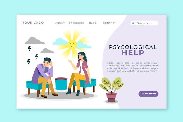 Psychological help - landing page