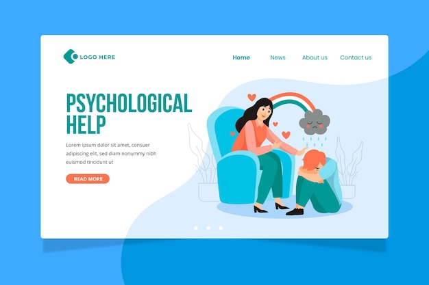 Psychological help landing page