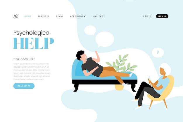 Psychological help landing page