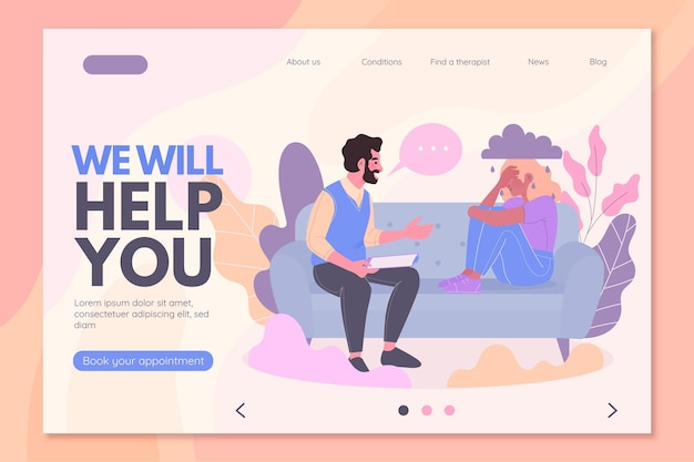Psychological help - landing page