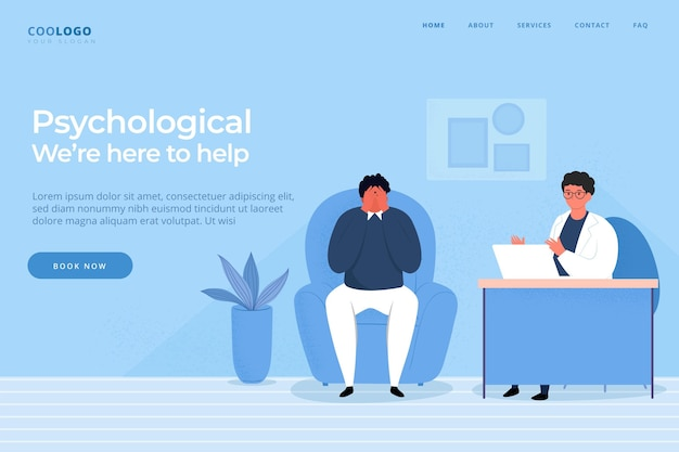 Psychological help web template
