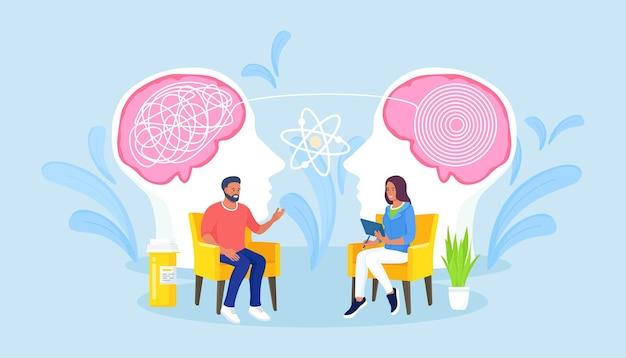 心理学者のコンサルティング患者。心理療法の実践、心理的支援、心理学者サービス、心理療法。医者は人の精神を扱います。心の問題、メンタルヘルス