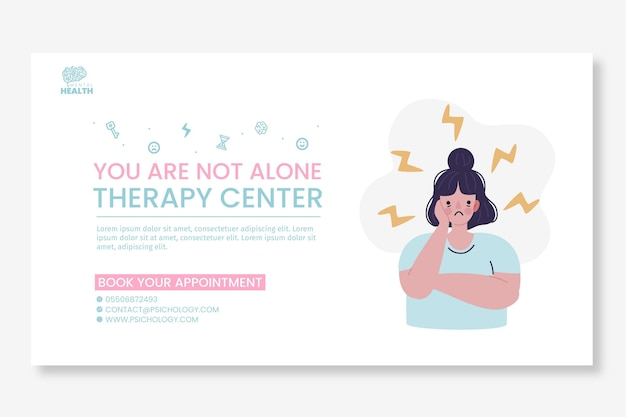 Psychology banner template illustrated