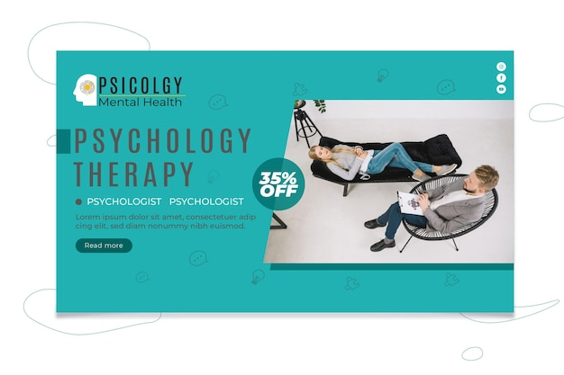 Psychology banner template