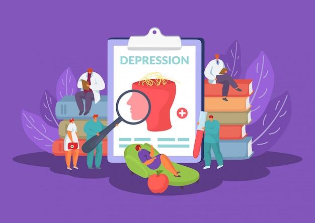 心理療法の図に精神的および感情的な問題の心理学の概念。