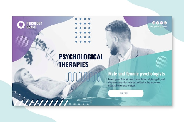Psychology consulting banner template